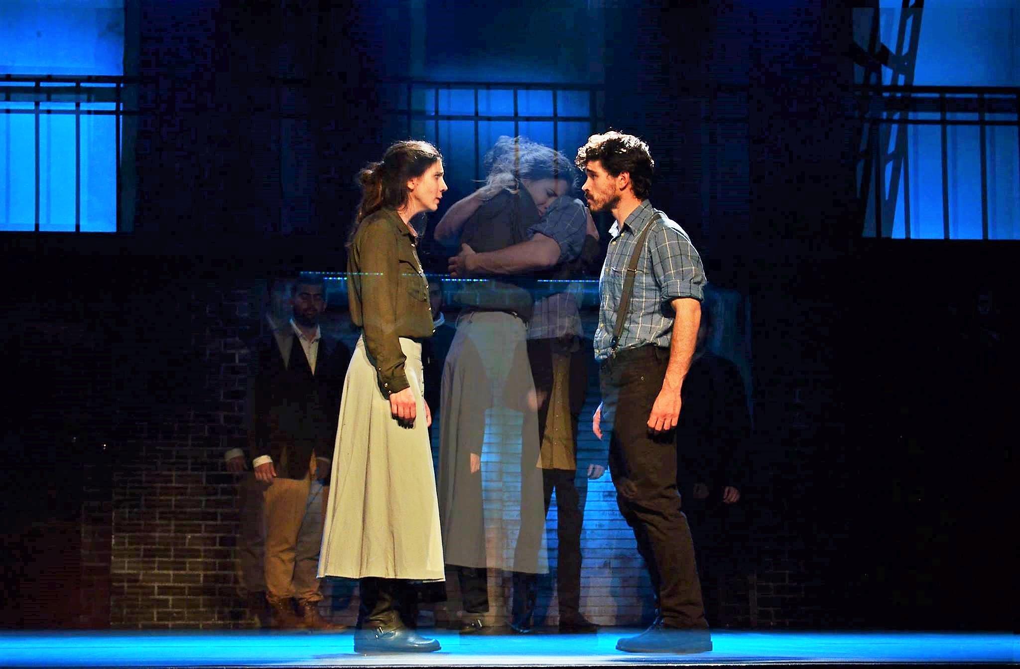As Elizabeth Proctor in The Crucible with actor- Nikos Spiridonos